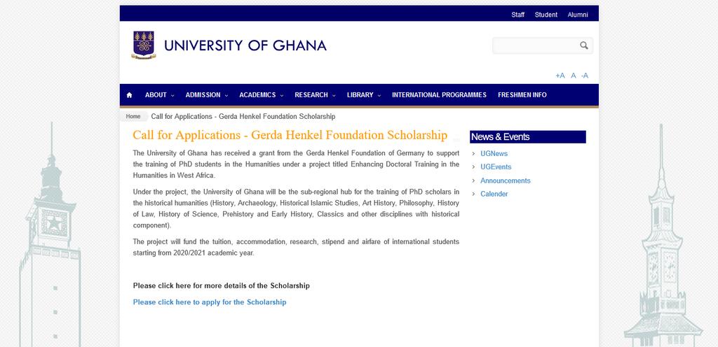 Gerda Henkel Foundation Scholarship