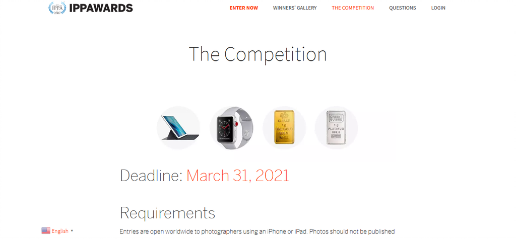 iPhone Photography Award website