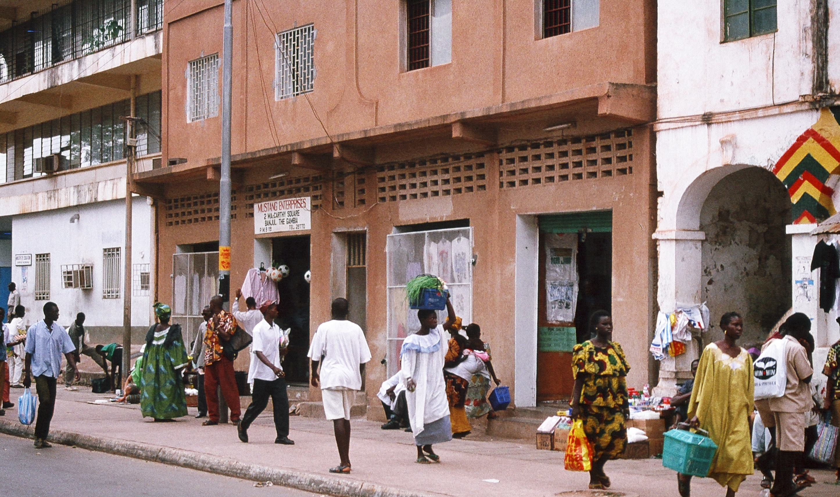 globe migrant places in the gambia